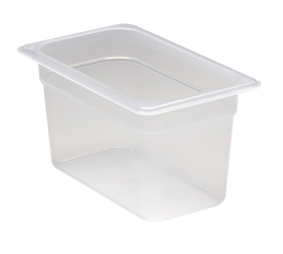 "Cambro Translucent 1/4 Size 6""D Food Pans"