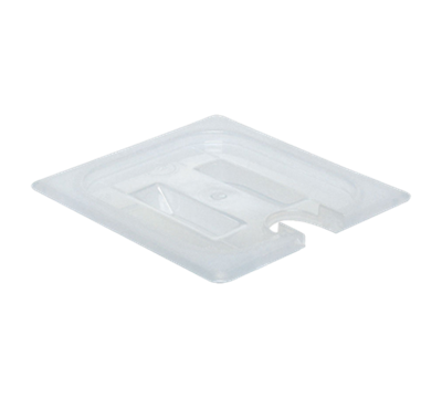 Cambro Translucent 1/6 Size Notched Covers with Handles
