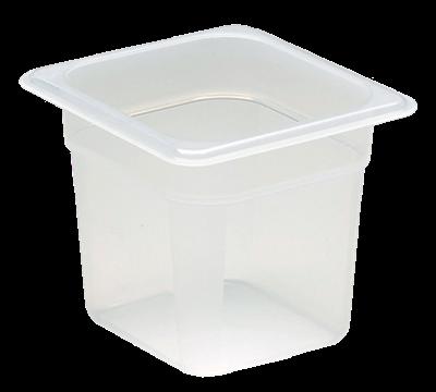 "Cambro Translucent 1/6 Size 6""D Food Pans"