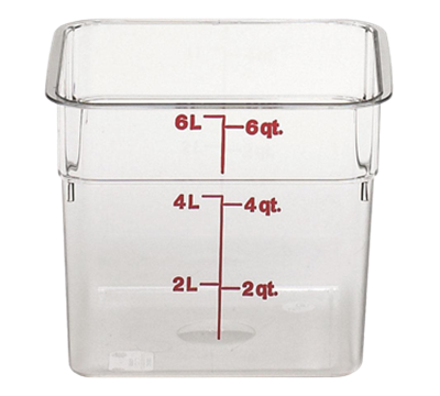 Cambro Camwear 6 qt. Clear CamSquare Containers