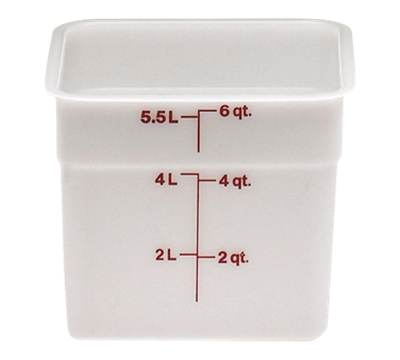Cambro Poly 6 qt. CamSquare Containers