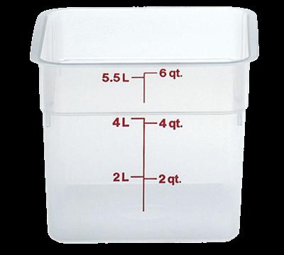 Cambro Translucent 6 qt. CamSquare Container