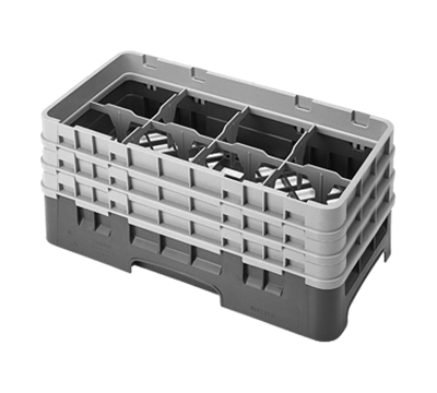 "Cambro 6-7/8""H Half Size 8-Compartment Camracks"