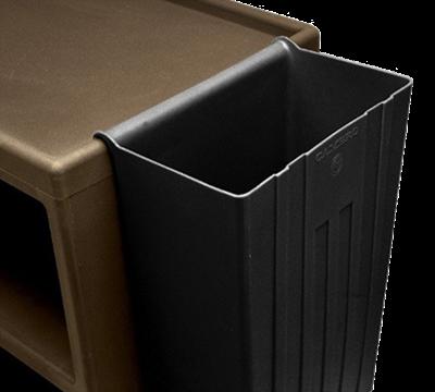 Cambro 11 Gal. Black Trash Container