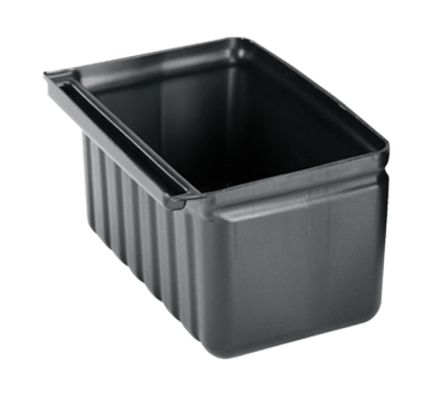 Cambro 2.5 Gallon Black Silverware Holder