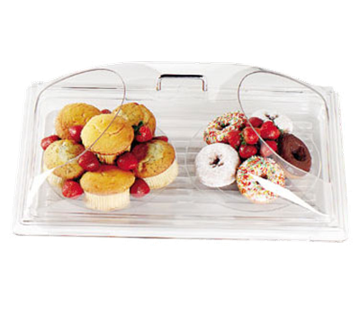 Cambro DD1220BECW135 Camwear Display Dome Cover with 2 Ends Cut