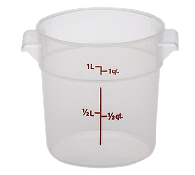 Cambro Translucent 1 qt. Round Food Storage Containers