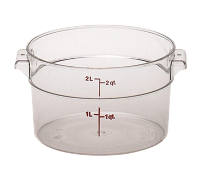 Cambro Camwear 2 qt. Round Food Storage Containers