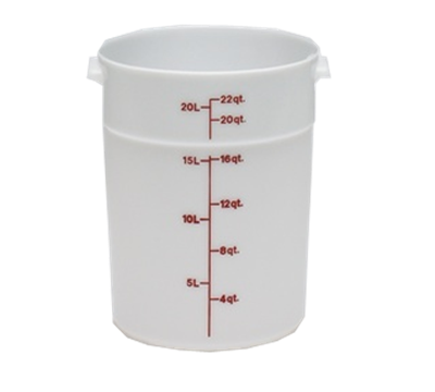 Cambro Poly 22 qt. Round Food Storage Containers