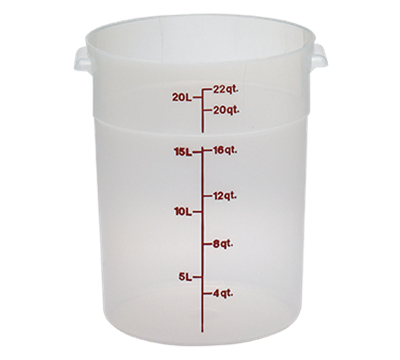 Cambro Translucent 22 qt. Round Food Storage Containers