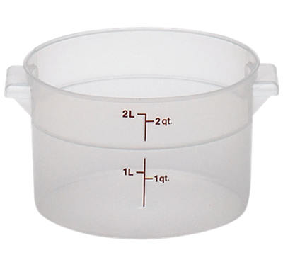 Cambro Translucent 2 qt. Round Food Storage Containers