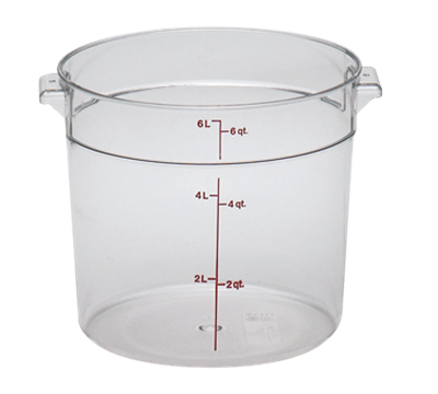 Cambro Camwear 6 qt. Round Food Storage Containers