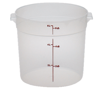 Cambro Translucent 6 qt. Round Food Storage Containers