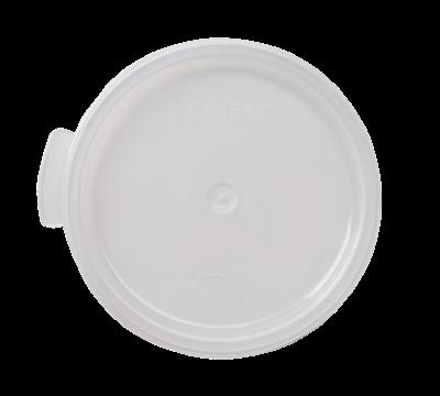 Cambro Translucent 1 qt. Round Container Covers