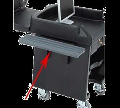 Cambro VCS32R191 Versa Cart Tray Rail Only Granite Gray