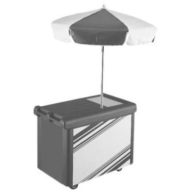 """Cambro CVC55191 Camcruiser Vending Cart 55-3/16"""" X 31-1/4"""" X 93-1/2""""H"""