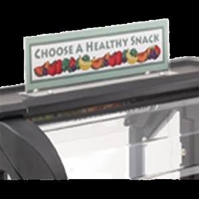 Cambro VBRSHTS152 Versa Food Bar Sign Holder Clear
