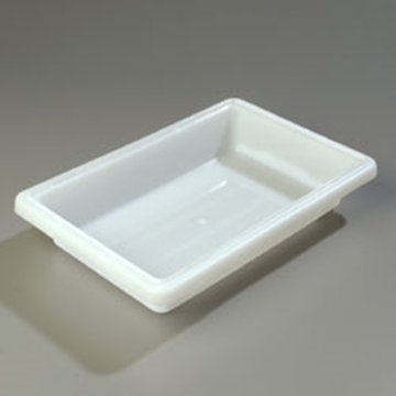 "Carlisle 12"" x 18"" x 3-1/2"" White Food Storage Box"