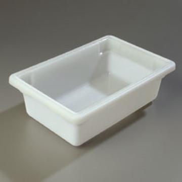 "Carlisle 12"" x 18"" x 6"" White Food Storage Box"