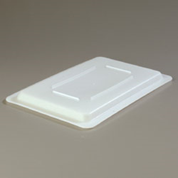 "Carlisle 12"" x 18"" White ""Lock-Tight"" Lid"