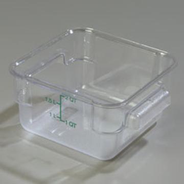 Carlisle StorPlus Clear 2 qt Square Food Storage Container