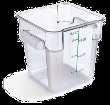 Carlisle StorPlus Clear 4 qt Square Food Storage Container