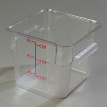 Carlisle StorPlus Clear 6 qt Square Food Storage Container