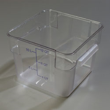 Carlisle StorPlus Clear 12 qt Square Food Storage Container