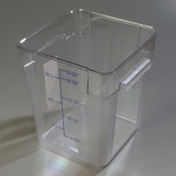 Carlisle StorPlus Clear 18 qt Square Food Storage Container