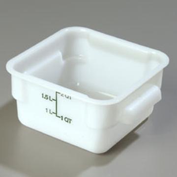 Carlisle StorPlus White 2 qt Square Food Storage Container