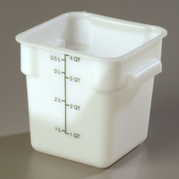 Carlisle StorPlus White 4 qt Square Food Storage Container