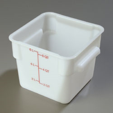Carlisle StorPlus White 6 qt Square Food Storage Container