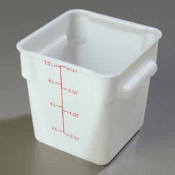 Carlisle StorPlus White 8 qt Square Food Storage Container