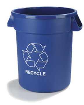 Carlisle 32 Gallon Blue Recycling Can