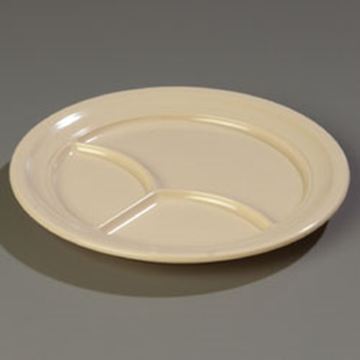 "Carlisle 9-3/4"" 3-Compartment Plates"