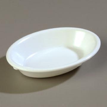 Carlisle 6-1/2 oz White Oval Fruit Dish