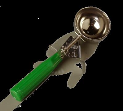 Carlisle 3-1/4 oz Disher with Green Handle