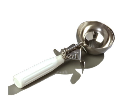 Carlisle 4-2/3 oz Disher with White Handle