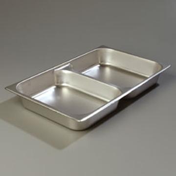 "Carlisle DuraPan Full Size, 2-1/2""D Divided Food Pan"