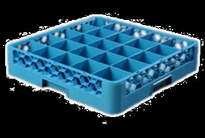 Carlisle Opticlean 25-Compartment Blue Glass Rack