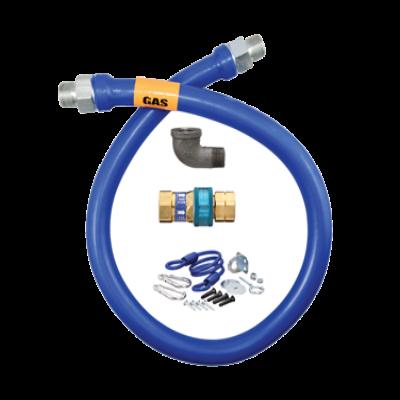 """Dormont Manufacturing 1675BPQR48 Dormont Blue Hose Moveable Gas Connector 3/4"""" Inside Dia."""