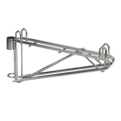 Focus Foodservice FPMB18DCH Post Mount Wall Brackets for Wire Shelving