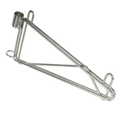 Focus Foodservice FPMB18SCH Post Mount Wall Brackets for Wire Shelving