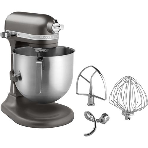 KitchenAid KSM8990DP Commercial 8-Qt Bowl Lift Stand Mixer, Dark Pewter, NSF - KitchenAid