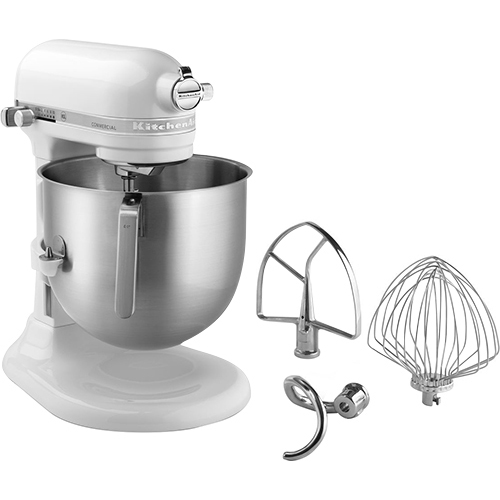 KitchenAid KSM8990WH Commercial Series 8-Qt Bowl Lift Stand Mixer, White, NSF - KitchenAid