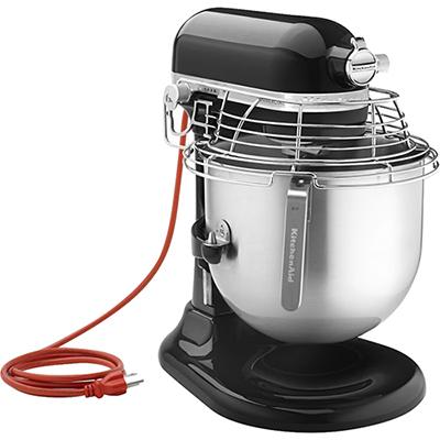 KitchenAid KSMC895OB 8-Qt Commercial Bowl-Lift Stand Mixer with Bowl Guard, Onyx Black - KitchenAid
