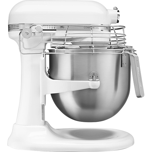 KitchenAid KSMC895WH 8-Qt Commercial Bowl-Lift Stand Mixer with Bowl Guard, White - KitchenAid