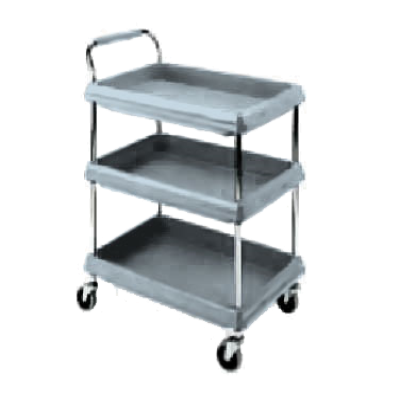 Metro BC2030-3DMB Deep Ledge Utility Cart 3-Tier with Open Base