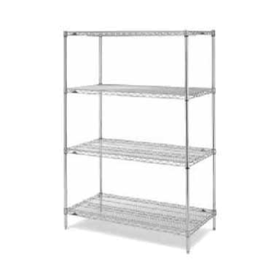 "Metro EZ2460NK3-4 Super Erecta Convenience Pak Shelving Unit 60""W X 24""D X 74""H Wire Shelves"