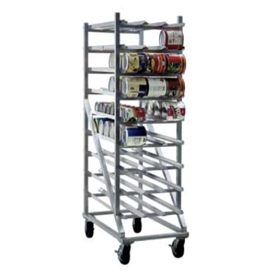 New Age 1256CK Can Storage Rack Mobile Design with Casters